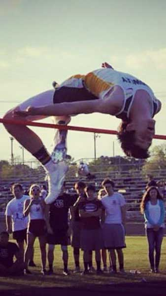Damon Guidry , high jumper from Louisiana