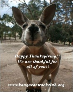 Happy Thanksgiving from Kangaroo Track Club